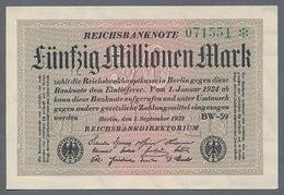 P109 Ro108e DEU-123h. 50 Million Mark 1923 NEUF UNC - [ 3] 1918-1933 : Repubblica  Di Weimar