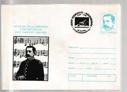 N 211) Rumänien 1994 GSU Ganzsache Entire FDC : 150. Geburtstag Iosif Ivanovici - Musik