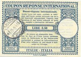 Italia Italie. (04) Coupon Réponse/reply Coupon Mod. Londra XIV (Ba) Da Matino (Lecce) 29.9.1941. Molto Bello E Annullo - 1900-44 Victor Emmanuel III
