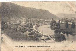 152. BESANCON . L'USINE A GAZ ET LA VALLEE DE CASAMENE  . AFFR AU VERSO LE 8-3-1905 . 2 SCANES - Besancon