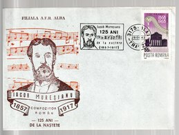 N 218) Rumänien 1982 SST Zum 125. Geburtstag Von Iacob Muresianu - Musik