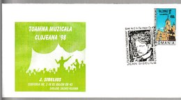 N 236) Rumänien 1998 SSt Cluj-Napoca: Jean Sibelius, 2. Sinfonie - Musique