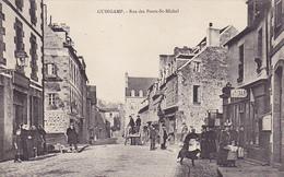 Cpa - 22-guingamp-animée-rue Des Ponts St Michel-postes-collection Hamon - Guingamp