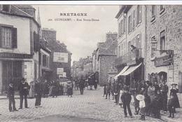 Cpa - 22-guingamp-peu Courante-animée-rue Notre Dame-edi Mancel N°502 - Guingamp