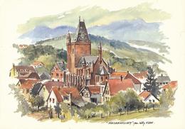 67) NIEDERHASLACH : Vue Générale (aquarelle De Willy KUHN) - Autres Communes