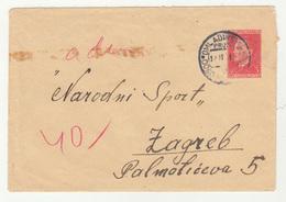 Yugoslavia FNR Postal Stationery Letter Cover Travelled 1951 Omladinska Pruga Doboj- To Zagreb (Youth Work Actions) - Postal Stationery