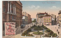 Croatie FIUME Piazza Elisabetta - Tramway - Timbre 1919 - Non écrite Au Verso - Croatia
