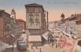 Croatie FIUME- Corso E Via Lodovico Kossuth - Tramway - Timbre 1919 - Non écrite Au Verso - Croazia