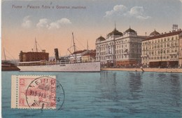 Croatie FIUME- Palazzo Adria E Governo Maritimo - Bateau - Timbre 1919 - Non écrite Au Verso - Croatia