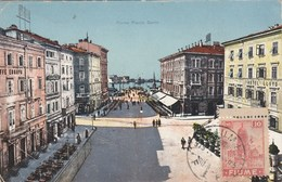 Croatie FIUME- Piazza Dante - Timbre 1919 - Non écrite Au Verso - Pli Et érosion Angle Bas Gauche - Croazia