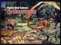 PAPUA NEW GUINEA 2004 MNH - DINOSAURS PREHISTORIC REPTILES, Miniature Sheet - Vor- U. Frühgeschichte
