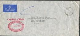 1974 GB Field Post Office FPO 80 Gurkha Training Brigade Airmail Cover - Major Shevlin, US Army, Infantry School, Brecon - 1952-.... (Elizabeth II)