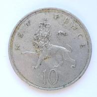10 New Pence Münze Aus Großbritannien Von 1970 (schön) - Sonstige