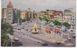 °°° 13410 - INDIA - BOMBAY - FLORA FOUNTAIN - 1962 With Stamps °°° - India