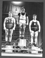 Photo Muscular Men Guy Weightlifting - Homme - Garcon - Men STOCKHOLM 1958 TOMMY KONO FEDOR BOGDANOVSKIJ MARCEL PATERNI - Anonymous Persons