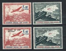 """FR LVF YT 2 à 5 """" Timbre Pour Courrier """" 1941 Neuf** - Guerras"""