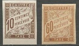 TAXE N° 19 Et 24 NEUF*  Trace De CHARNIERE  / MH - Taxes