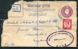 1954 GB Field Post Office Registered Cover. Royal Pioneer Corps. Moascar Egypt, Mauritian Guard Co. MELF Ismalia - 1952-.... (Elizabeth II)