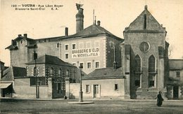 TOURS - Rue Léon Boyer Brasserie St Eloi Enseigne Ph Webel Et Fils - Tours
