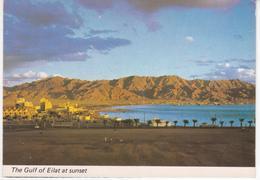 °°° 13414 - ISRAEL - EILAT - THE GULF AT SUNSET - 1988 °°° - Israele