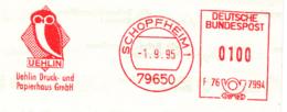 Freistempel 5257 Eule Uehlin Papierhaus - Machine Stamps (ATM)