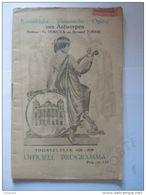 Antwerpen 1929 Koninklijke Vlaamse Opera Programma Tannhauser 24 Pagina's 13,7 X 21,2 Cm - Programmes