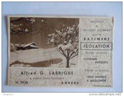 Vloeipapier Buvard Isolation Alfred Labrique Anvers Materiaux Et Procédés Pour Le Bâtiment Form 15 X 10 Cm - Carte Assorbenti