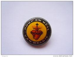 "Speldje Eplinglette Insigne Badge ""Hoop En Heil Van Belgiê""  Insignes Lyonnais Diam 1,5 Cm - Pin's"