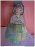 Kalender Calendrier 1923 Alleen December Seulement Decembre Fille Dentelle Meisje Kant Form 12 X 23 Cm - Calendriers