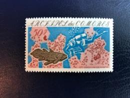 COMORES 1975 YT 104 Fish Coelacanthe Neuf MNH **  COMOROS KOMOREN - Isla Comoro (1950-1975)