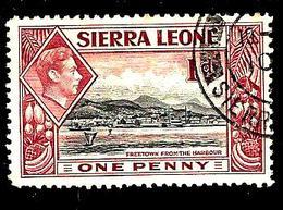 SIERRA LEONE 159° 1p Lilas-brun Et Noir George VI Freetown Vu Du Port (10% De La Cote + 0,15) - Sierra Leone (...-1960)