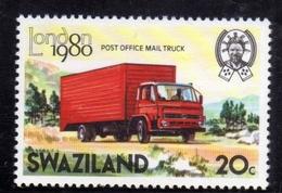 SWAZILAND 1980 MAIL RUNNER LONDON TRUCK  CENT. 20c MNH - Swaziland (1968-...)
