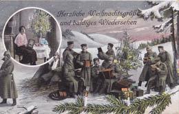 Weihnachtsgrüss Akkordeon Accordeon . 1 WK 1 ° Guerre - War 1914-18