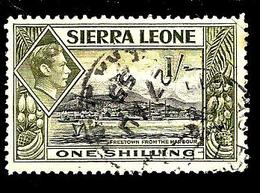 SIERRA LEONE 166° 1s Olive Et Noir George VI Freetown Vu Du Port (10% De La Cote + 0,15) - Sierra Leone (...-1960)