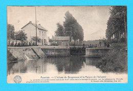 CPA AUVELAIS : L'Ecluse De Grogneaux Et La Maison De L'Eclusier - Circulée - Desaix / Belgique Historique - Sambreville