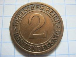 2 Rentenpfennig 1923 (A) - 2 Rentenpfennig & 2 Reichspfennig