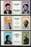 CAMEROUN 1968, Yvert PA 127A**,  GANDHI, LUTHER KING, J. Et R. KENNEDY, 6 Valeurs Avec Vignettes, Neufs** / MNH. R2328b - Kennedy (John F.)