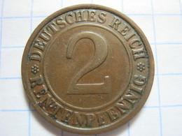 2 Rentenpfennig 1923 (G) - 2 Rentenpfennig & 2 Reichspfennig