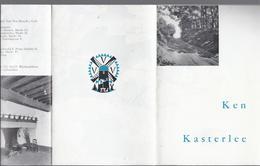 """4-LUIK X 2 TOERISTISCHE FOLDER """" KEN KASTERLEE """" MET 6 FOTO' S + TEKENING MOLEN - VERSO MET KAART - Tourism Brochures"""