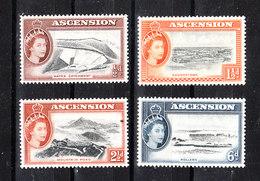 "Ascension - 1956. I 4 Francobolli Della Serie ""Vedute Dell' Isola "".The 4 Stamps Of The Series ""Views Of The Island"" MNH - Geografia"
