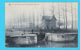 CPA AUVELAIS : Ecluse De Grogneaux ( Côté Aval ) - Circulée En 1910 - Carte Un Peu Bleutée - Sambreville