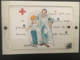 LA CROIX ROUGE FRANCAISE - Depuis 125 Ans.... - Carte Postale Incluant Un Jeu De Billes - Croix-Rouge