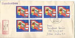 ALEMANIA DDR BERLIN CC CERTIFICADA RGW BANDERAS FLAG - Sobres