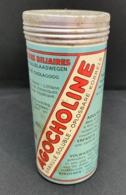 Ancienne Boite En Fer. Publicité Agocholine, Granulé Soluble. Drainage Médical. Laboratoires Zizine. - Boîtes