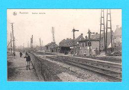 CPA AUVELAIS : Station Détruite - Animée - Non Circulée - Nels - Sambreville