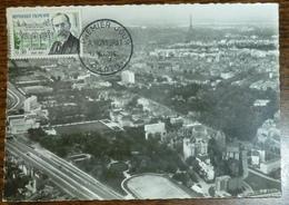 Carte Maximum 1960 - YT 1277 André Honnorat Sur CP Entrée De La Cité Universitaire De Paris - - Maximum Cards