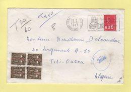 Marianne De Bequet - Tarn Et Garonne Destination Tizy Ouzou Algerie - Lettre Taxee 29-12-1971 - Storia Postale