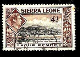 SIERRA LEONE 163° 4p Brun-rouge Et Noir George VI Freetown Vu Du Port (10% De La Cote + 0,15) - Sierra Leone (...-1960)