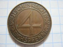 4 Reichspfennig 1932 (D) - [ 3] 1918-1933 : Weimar Republic