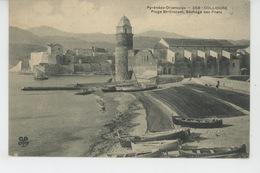COLLIOURE - Plage Saint Vincent - Séchage Des Filets - Collioure